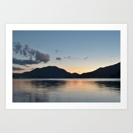 Silver sunset Art Print