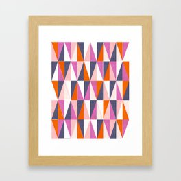 a harlequin party in pink! Framed Art Print