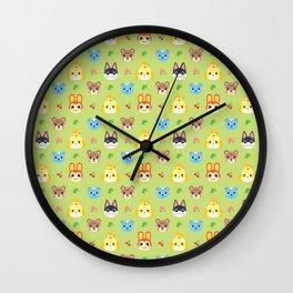 Animal Crossing - Green Wall Clock