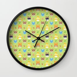 Animal Crossing - Green Wall Clock