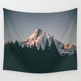 First Light on Mount Hood Wall Tapestry