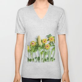 Peppers flower (35) Unisex V-Neck