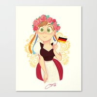 germany Canvas Prints featuring Germany by Melissa Ballesteros Parada