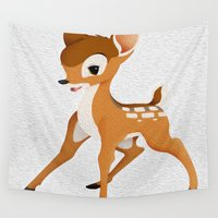 bambi Wall Tapestries featuring Bambi by MandiMccl