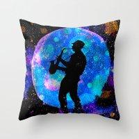 jazz Throw Pillows featuring Jazz by Saundra Myles
