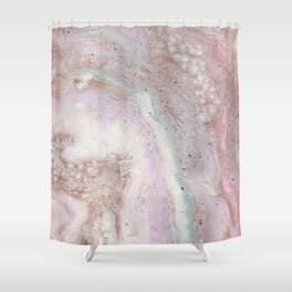 Strawberry marble Shower Curtain