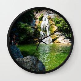 small waterfall in Corsica Wall Clock