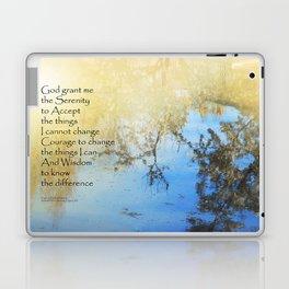 Serenity Prayer Pond Reflections Laptop & iPad Skin