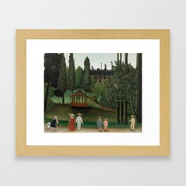 View of Montsouris Park, the Kiosk - Henri Rousseau Framed Art Print