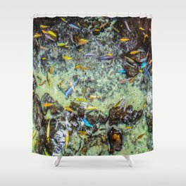 Electric Fish Pond Shower Curtain