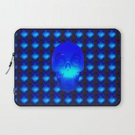 Blue Crystal Skull Laptop Sleeve