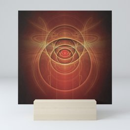 The Rusty Red Fractal Scarab of Fiery Old Man Ra Mini Art Print