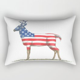 USA Whitetail Deer Rectangular Pillow