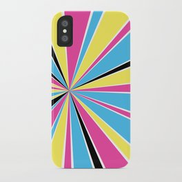 CMYK Star Burst iPhone Case