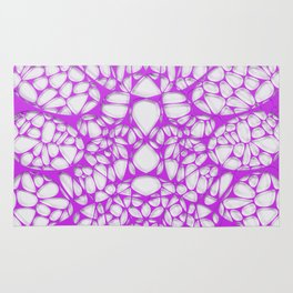Purple on white, organic abstraction Rug