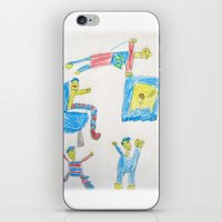 workout iPhone & iPod Skins featuring Dad's Workout Time by Dozer and Beans
