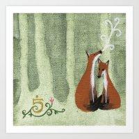 Foxes No. 5 Art Print