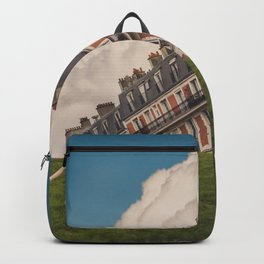 Tilted house of Paris Backpack