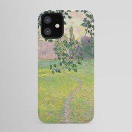 """Claude Monet """"Paysage de matin"""" (1888) iPhone Case"""
