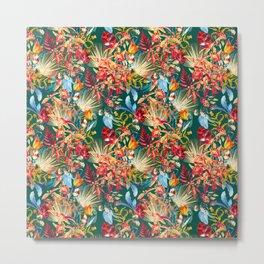 Exotic Garden Multicolor Metal Print