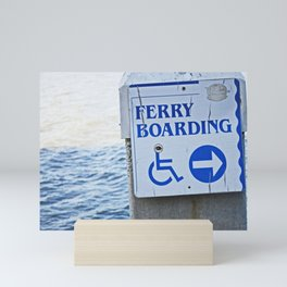 Ferry Boarding in Savannah Mini Art Print