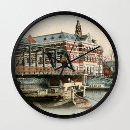 1900 Minatobashi Bridge Yokohama Wall Clock