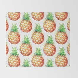 Fat Pineapple 1 Throw Blanket