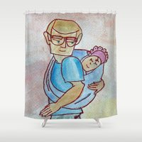strong Shower Curtains featuring Strong by MegBKate