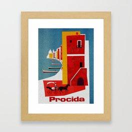 Vintage Procida Island Italy Framed Art Print