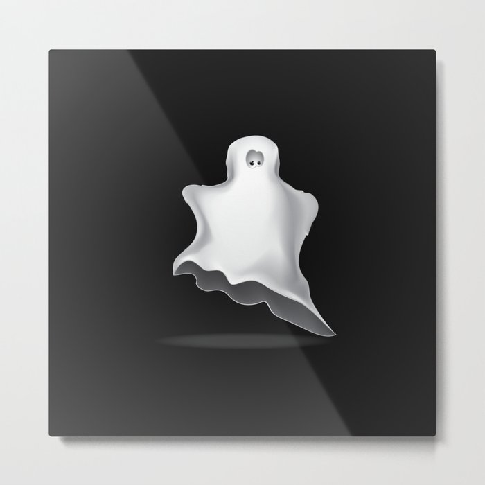 White ghost Metal Print