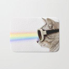 Rainbow rays on Cat Bath Mat