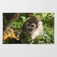 arctic monkeys Area & Throw Rugs featuring monkeys by Alexandra Hoeschen