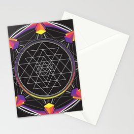 Sri Yantra Stationery Cards