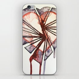 Shattered heart iPhone Skin