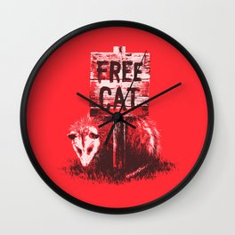 Free cat Wall Clock