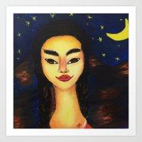 frida kahlo Art Prints featuring Frida Kahlo by ArtSchool