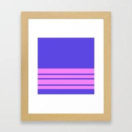 Blue Slate Stripes Violet Wall Framed Art Print