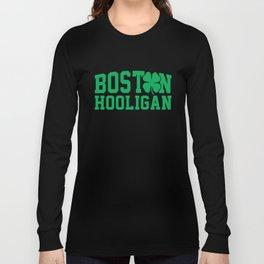 Boston Hooligan Green Shamrock St Patricks Day Cool Long Sleeve T-shirt