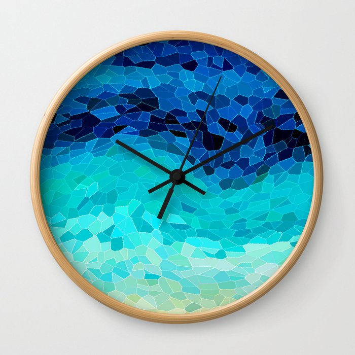 INVITE TO BLUE Wall Clock