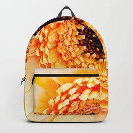 Peach Gerbera Backpack
