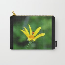 Yellow flower & visitor  Carry-All Pouch