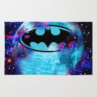 bat Area & Throw Rugs featuring Bat by Saundra Myles