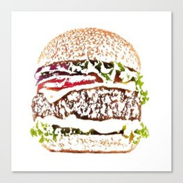hamburger painted picture Canvas Print