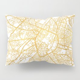 BRUSSELS BELGIUM CITY STREET MAP ART Pillow Sham