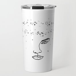 Face with space crown - Joy Halo Travel Mug