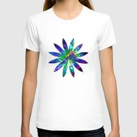 flower pattern T-shirts featuring Flower pattern by Avril Harris
