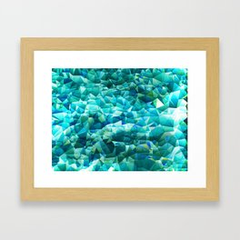 Ocean Blues Framed Art Print