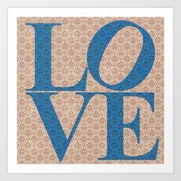 LOVE BLUE Art Print