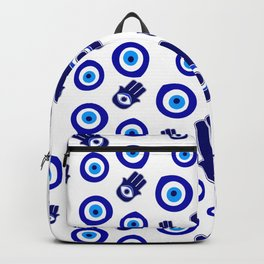 the evil eye protection amulet pattern Backpack