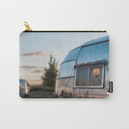 Vintage Airstream Sunset Reflection Carry-All Pouch